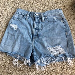 UO BDG girlfriend high rise denim shorts